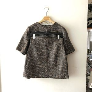 Choi Skirts - Coated tweed fabric SET